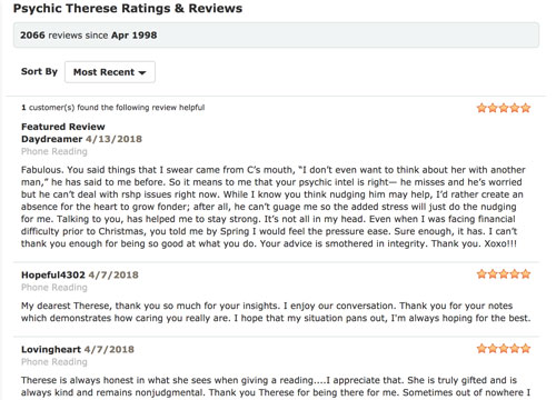 Customer Reviews of Psychic Source