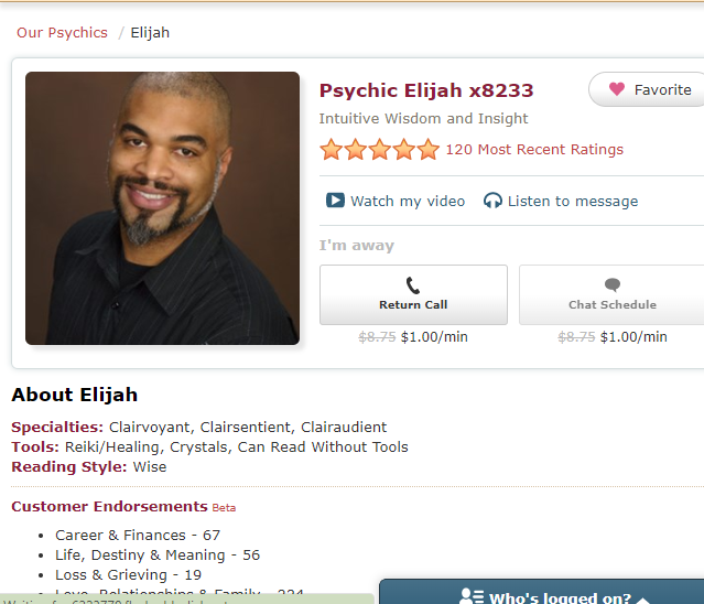Psychic Elijah - Full of wisdom and insightful. Clairvoyant, Clairsentient and Clairaudient