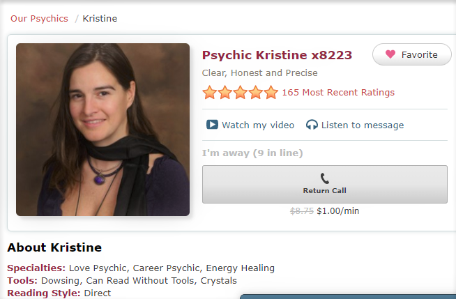 Psychic Kristine x8223 Clear, Honest and Precise