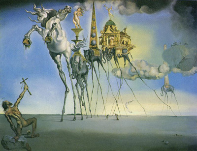 Salvador Dali Painting The Fourth Dimension Eye Of The Psychic